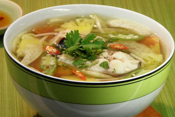 Cá mú nấu canh chu