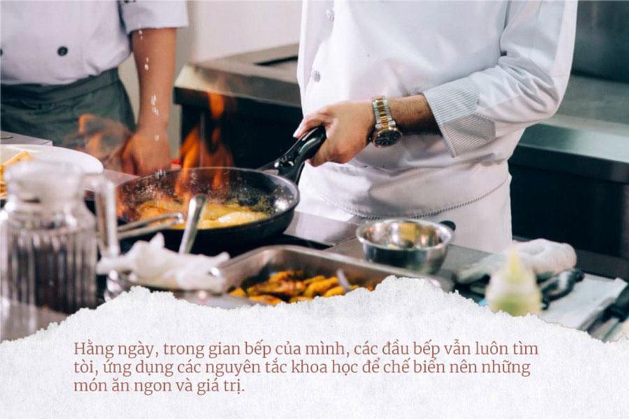 người đầu bếp phải luôn sáng tạo