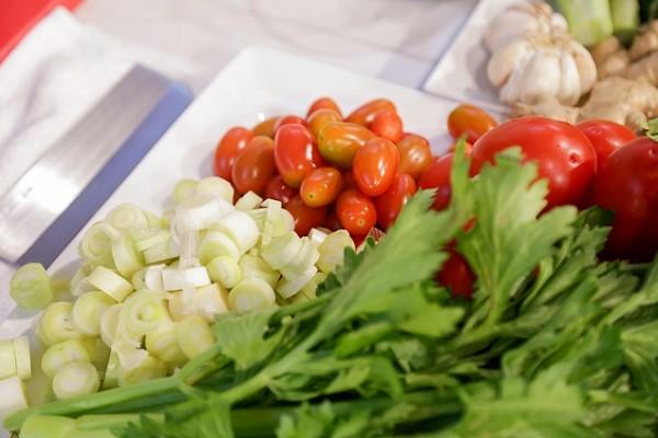 Kết hợp các loại rau quả