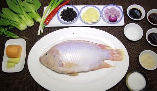 Nguyên liệu làm cá hấp xì dầu