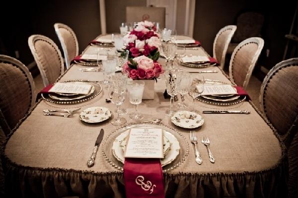 set up bàn tiệc