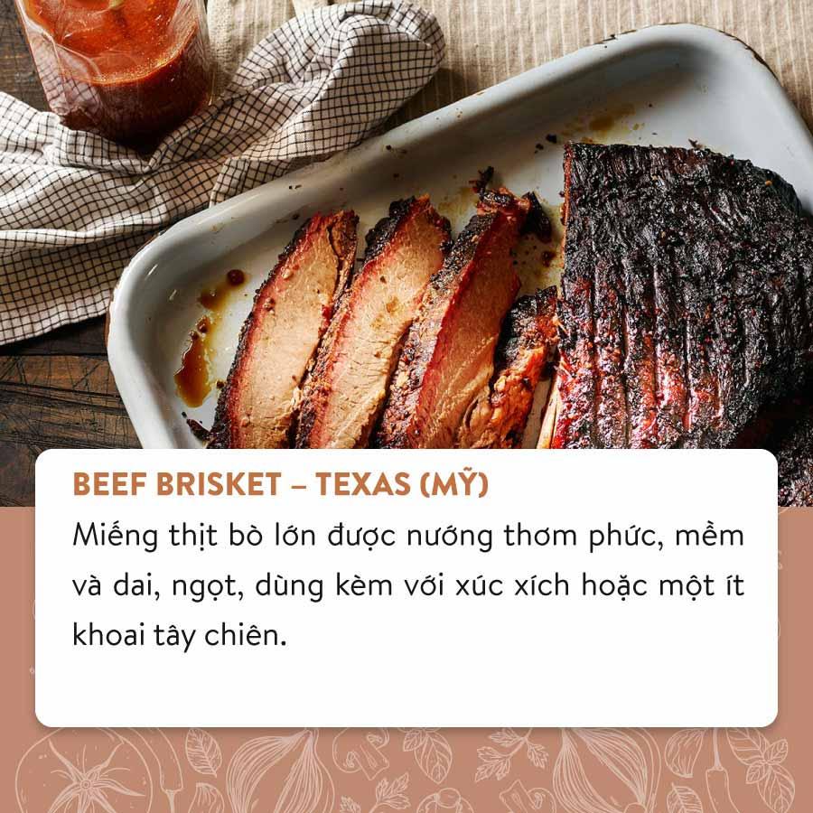 Thịt bò nướng từ bang Texas