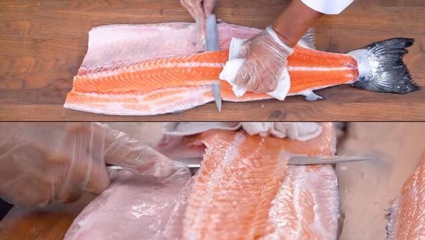 Lóc xương ra khỏi thân cá