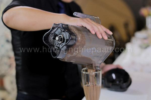 Hỗn hợp cacao đá xay sánh mịn