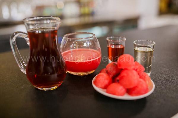 Nguyên liệu pha chế trà dưa hấu