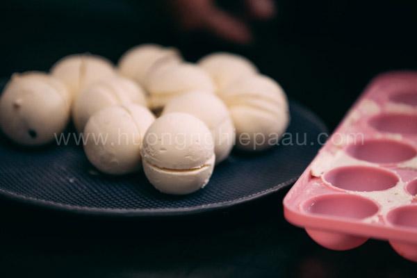 Nhân kem lạnh của bánh Mochi