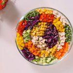 Món salad cầu vồng