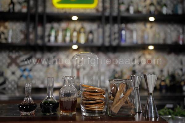 Nguyên liệu và dụng cụ pha chế cocktail Matcha Holic