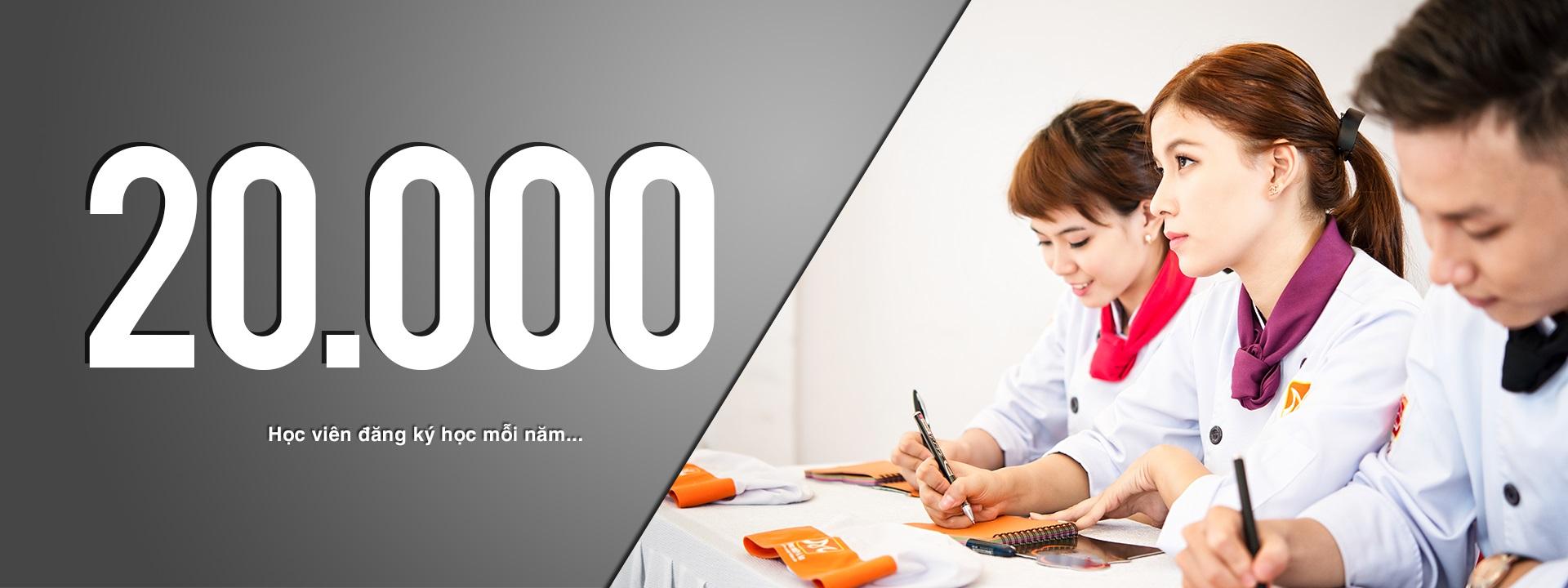 hàng ngàn học viên đăng kí mỗi năm