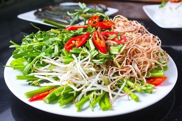 các loại rau ăn kèm lẩu